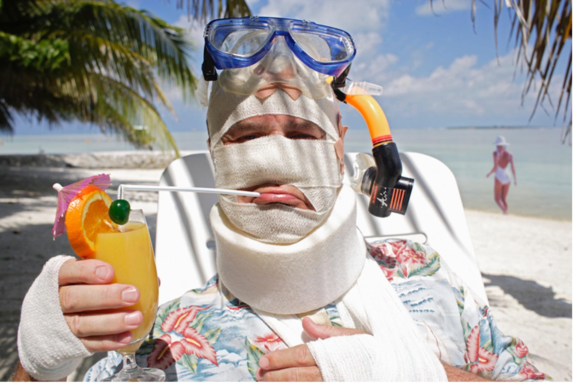 Strandurlaub nach Unfall